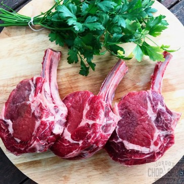 Grass-fed Beef Cutlets / Bone-in Scotch Fillet Steaks / Cattleman's Cutlets / Rib Eye (3-4 weeks dry-aged)