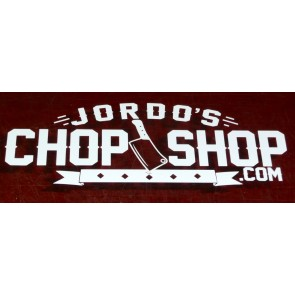 Jordo's Chop Shop 200mm window sticker