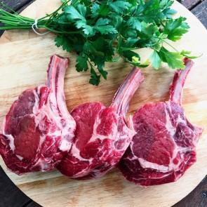 Grass-fed Beef Cutlets / Bone-in Scotch Fillet Steaks / Cattleman's Cutlets / Rib Eye (3-4 weeks dry-aged)