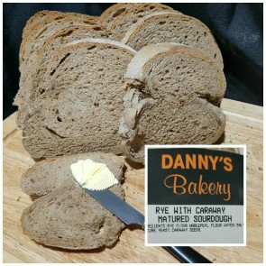 Danny's Rye With Caraway Matured Sourdough 900gm